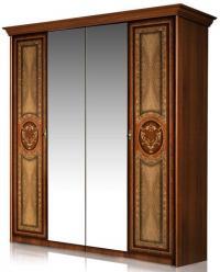 """Карина-1"" Шкаф 4-х дверный с зеркалами К1Ш1/4 (Ярцево)"