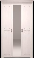 06 Афродита Шкаф для платья и белья 3-х с зеркалом (без карниза) (Арника)