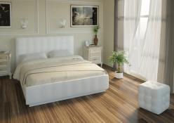 Кровать «Лорена» со стразами 140х200 с основанием (Арника)