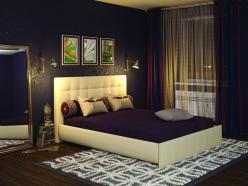 Кровать «Лорена» 180х200 с основанием (Арника)