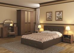 «Линда» Кровать интерьерная кожаная 160*200 (с подъемным механизмом) (Арника)