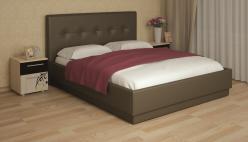 «Локарно» Кровать интерьерная кожаная 160*200 с латами (Арника)