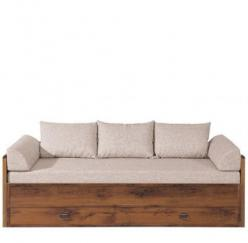 Индиана Диван-софа (раздвижной) с матрасом и подушками дуб саттер JLOZ(80/160) (БРВ (BRW))