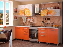 "Кухня 2,0 м ""Апельсин"" (МДФ) (БТС)"
