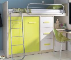Данза Кровать-чердак со шкафом и комодом мод. (D8309+D8312+D8315+D9004)  (Дана)