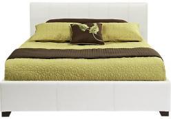 Кровать белая h99 L236 w170 (Этно Галерея)