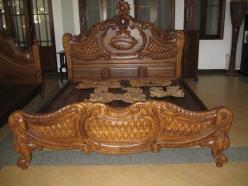 Кровать h165 L200 w183см (Этно Галерея)