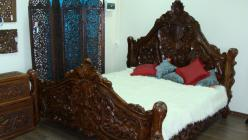 Кровать h180 L200 w183см (Этно Галерея)