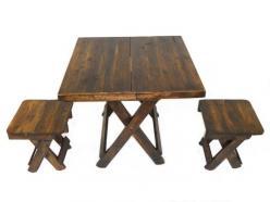 Набор: складной стол+ 4 табурета (Этно Галерея)