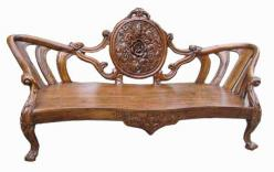 Скамья деревянная h90 L205 w70см (Этно Галерея)