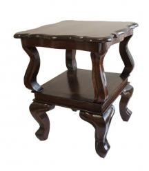 Стол кофейный с полкой h50 L40*40см (Этно Галерея)