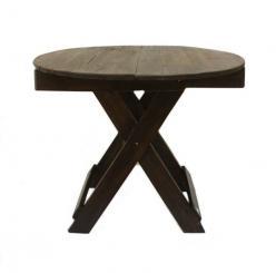 Стол складной круглый h68 d70см /Тик/ (Этно Галерея)