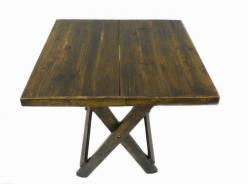 Стол складной квадратный h55 L64 w64 см (Этно Галерея)