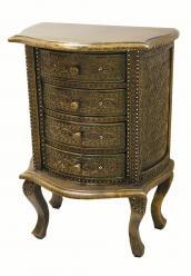 Столик консольный с 4-мя ящиками h78 L56 w35см (Этно Галерея)