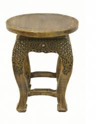 Столик круглый h51 d33cм (Этно Галерея)