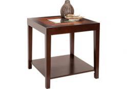 Столик с деревянной полкой h61 L61 w55см (Этно Галерея)