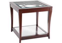 Столик со стеклянной полкой h61 L61 w61см (Этно Галерея)