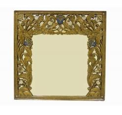 """Зеркало в раме """"Лилии"""" h80 L82см (Этно Галерея)"""