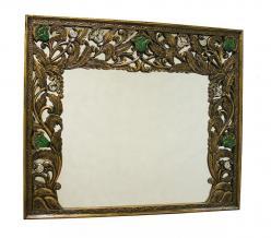 """Зеркало в раме """"Цветы"""" h100 L85см/h85см L100cм (Этно Галерея)"""