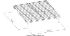 1.1 Основание с гибкими ламелями (1800) Металл (Глазов-мебель)