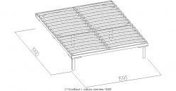 2.1 Основание с гибкими ламелями (1600) Металл (Глазов-мебель)