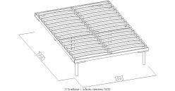 3.1 Основание с гибкими ламелями (1400) Металл (Глазов-мебель)