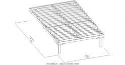 4.1 Основание с гибкими ламелями (1200) Дерево (Глазов-мебель)