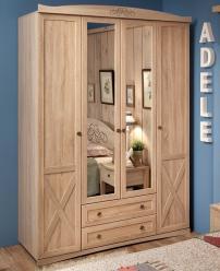 ADELE 9 Шкаф для одежды и белья, с цоколем, без карниза (Глазов-мебель)