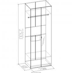 АМЕЛИ 11 Шкаф для одежды (Глазов-мебель)