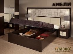 АМЕЛИ 101 Кровать Люкс (1800) + АМЕЛИ основание с подъемным механизмом  (Глазов-мебель)