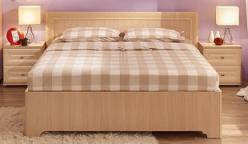 Анкона 4. Кровать 1200*2000 мм. + Основание с гибкими ламелями (дерево) (Глазов-мебель)