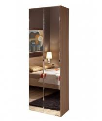 Bauhaus 8 Шкаф для одежды + 2 фасада Зеркало (Глазов-мебель)