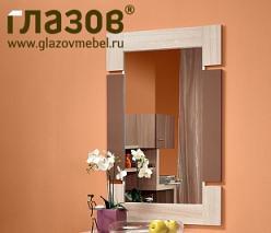 Берлин Зеркало Шоколад глянец (Глазов-мебель)