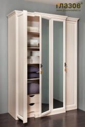 Монтпелье - Шкаф для одежды и белья 1 с карнизом (Глазов-мебель)