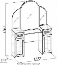 Стол туалетный 1 «Милана» Дуб отбеленный (Глазов-мебель)