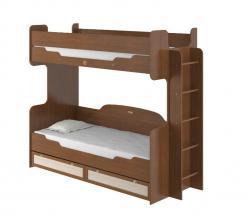 Кровать двухъярусная «Робинзон» ИД 01.164а с настилом (Интеди)