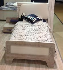 Кровать с мягким элементом 90*200 см с настилом «Тайм» ИД 01.265 (Интеди)