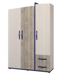 Шкаф для одежды 3-х дверный «Тайм» ИД 01.347 (Интеди)