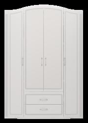 """02 """"Виктория"""" Шкаф для одежды 4-х дверный с ящиками (без зеркал) (Ижмебель)"""