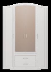 """02 """"Виктория"""" Шкаф для одежды 4-х дверный с ящиками (с зеркалами) (Ижмебель)"""