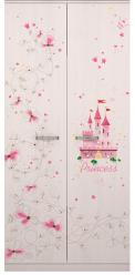 1 «Принцесса» Шкаф для одежды (Ижмебель)