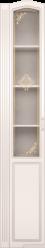 17 Шкаф-пенал левый со стеклом «Виктория» (Ижмебель)