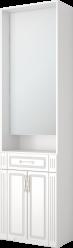 23 Шкаф комбинированный с зеркалом «Виктория» (Ижмебель)