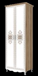 Шкаф для одежды 2-х дверный (без карниза) «Династия» 16 (Ижмебель)