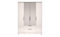Шкаф для одежды 4-х дверный с ящиком с зеркалом «Танго» 02 (Ижмебель)