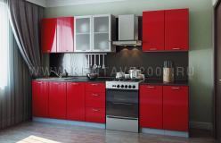 Кухонный гарнитур №31 (Красный глянец Модерн/Антрацит) (Кентавр 2000)