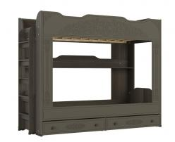 Кровать двухъярусная Ассоль Плюс АС-25 (грей) (Компасс)