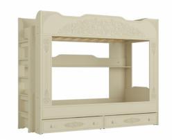 Кровать двухъярусная Ассоль Плюс АС-25 (ваниль) (Компасс)