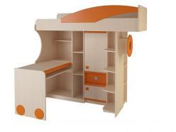 Набор мебели 4.4.1 Л/П (оранжевый) (Корвет)