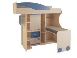 Набор мебели 4.4.1 П (синий) (Корвет)